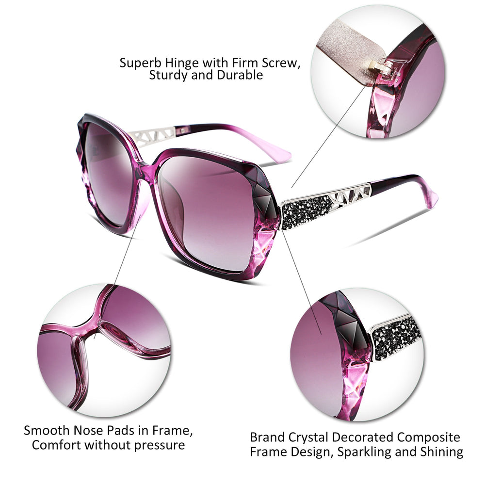 Women FEISEDY Classic Polarized Sunglasses - Shade & watches