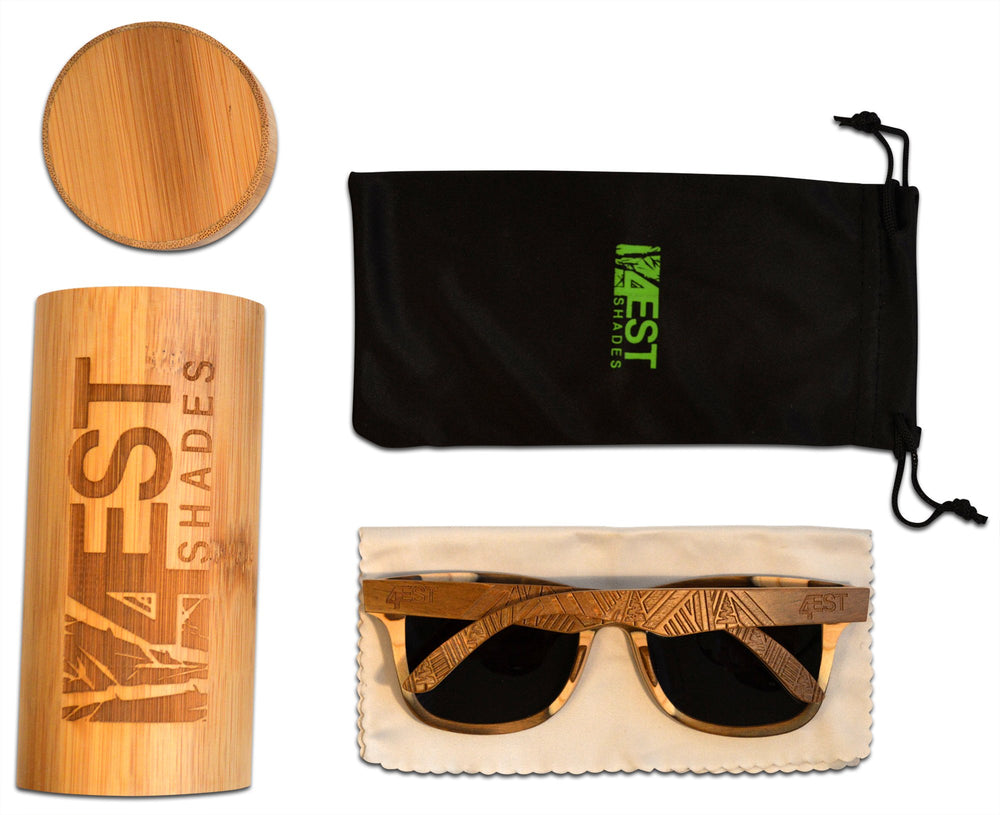 4EST Shades- Men's Polarized Maple Wood Sunglasses - Shade & watches