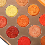 Red Orange Eyeshadow sunsets 15 Colors