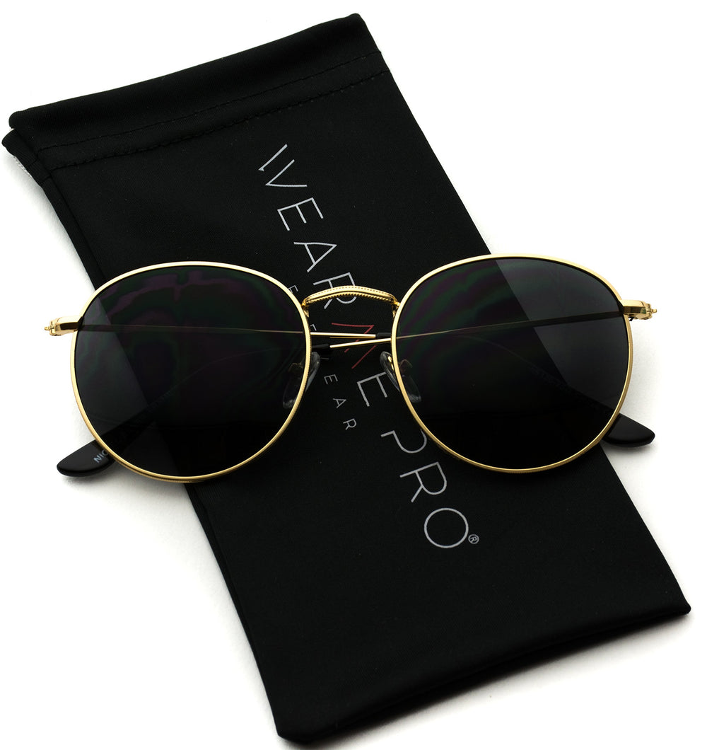 WearMe Pro Reflective Round Trendy Sunglasses - Shade & watches