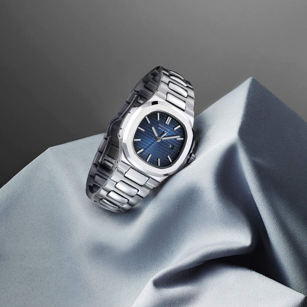 Women Japanese Quartz Movement Blue Dial watch