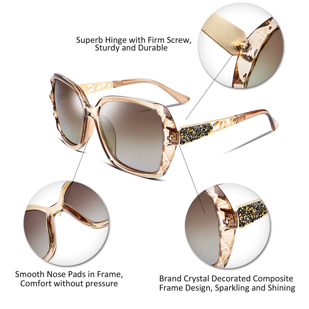 FEISEDY Classic Polarized Women Sunglasses - Shade & watches