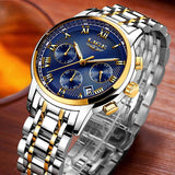 Men's Luxury Steel Quartz Analog Watch - Shade & watches
