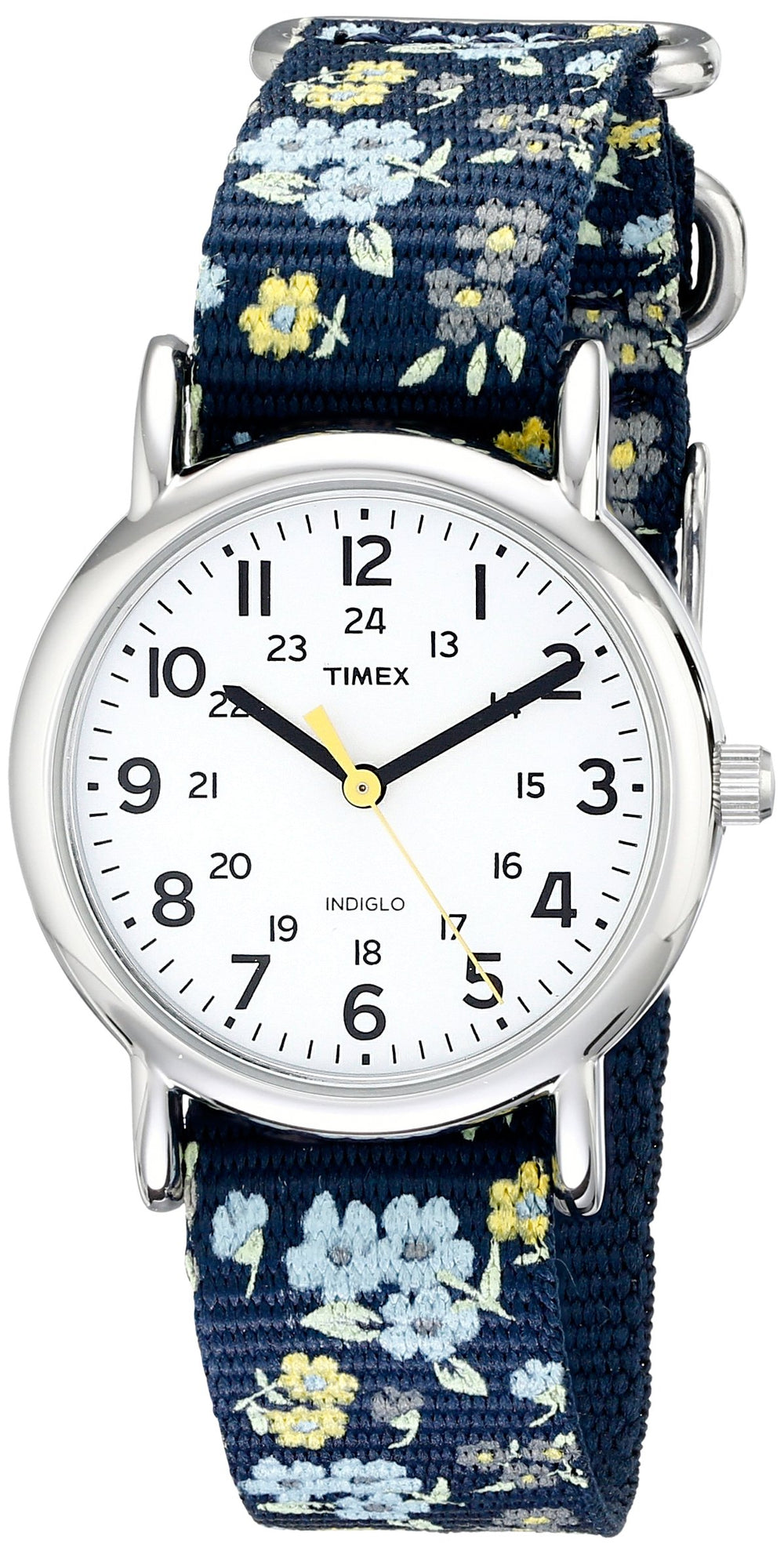 Timex Women Blue Floral Nylon Watch - Shade & watches