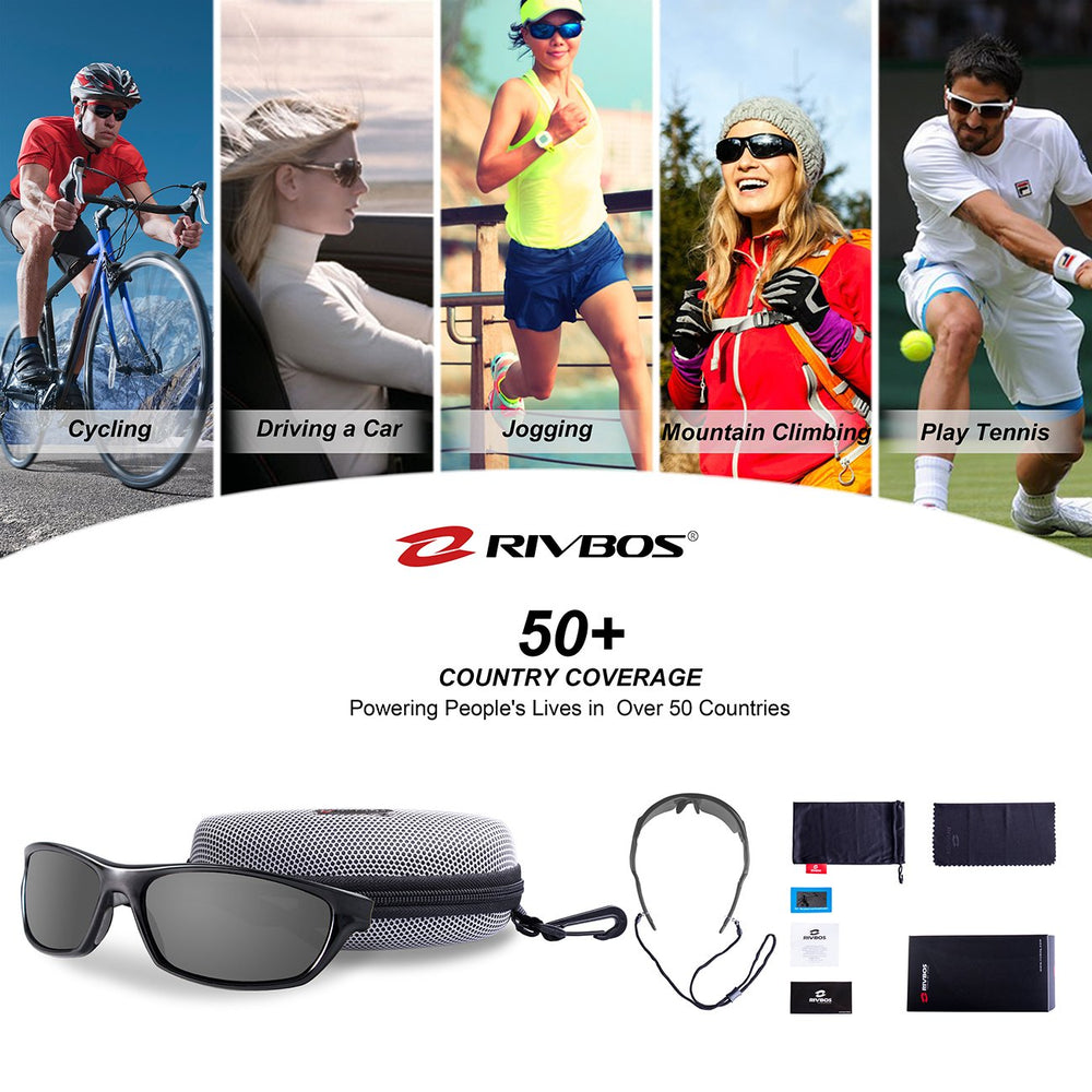 RIVBOS -Men's Polarized Sports Sunglasses