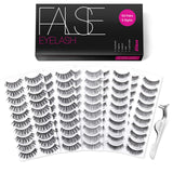 5 Styles Wispies Fake Lashes with Tweezers - Shade & watches