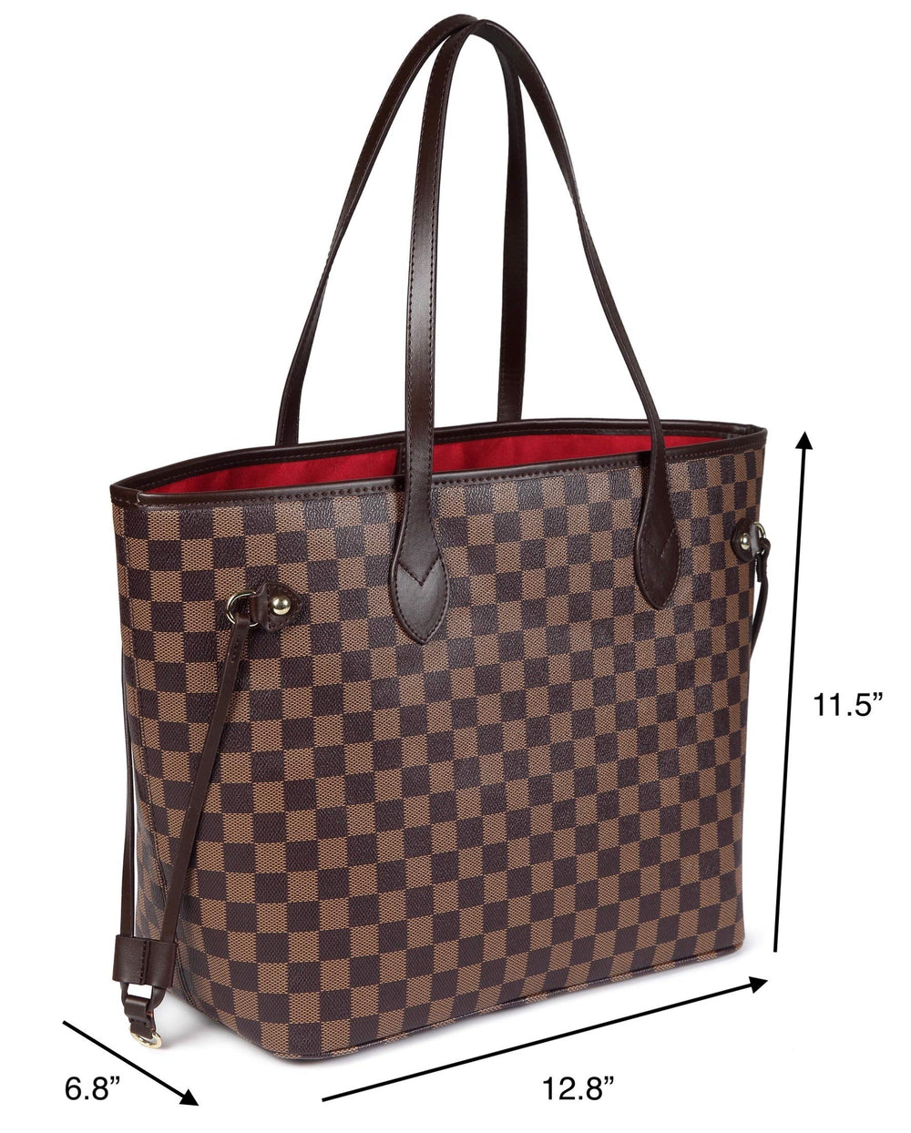 Daisy Rose- Checkered Tote Shoulder Bag