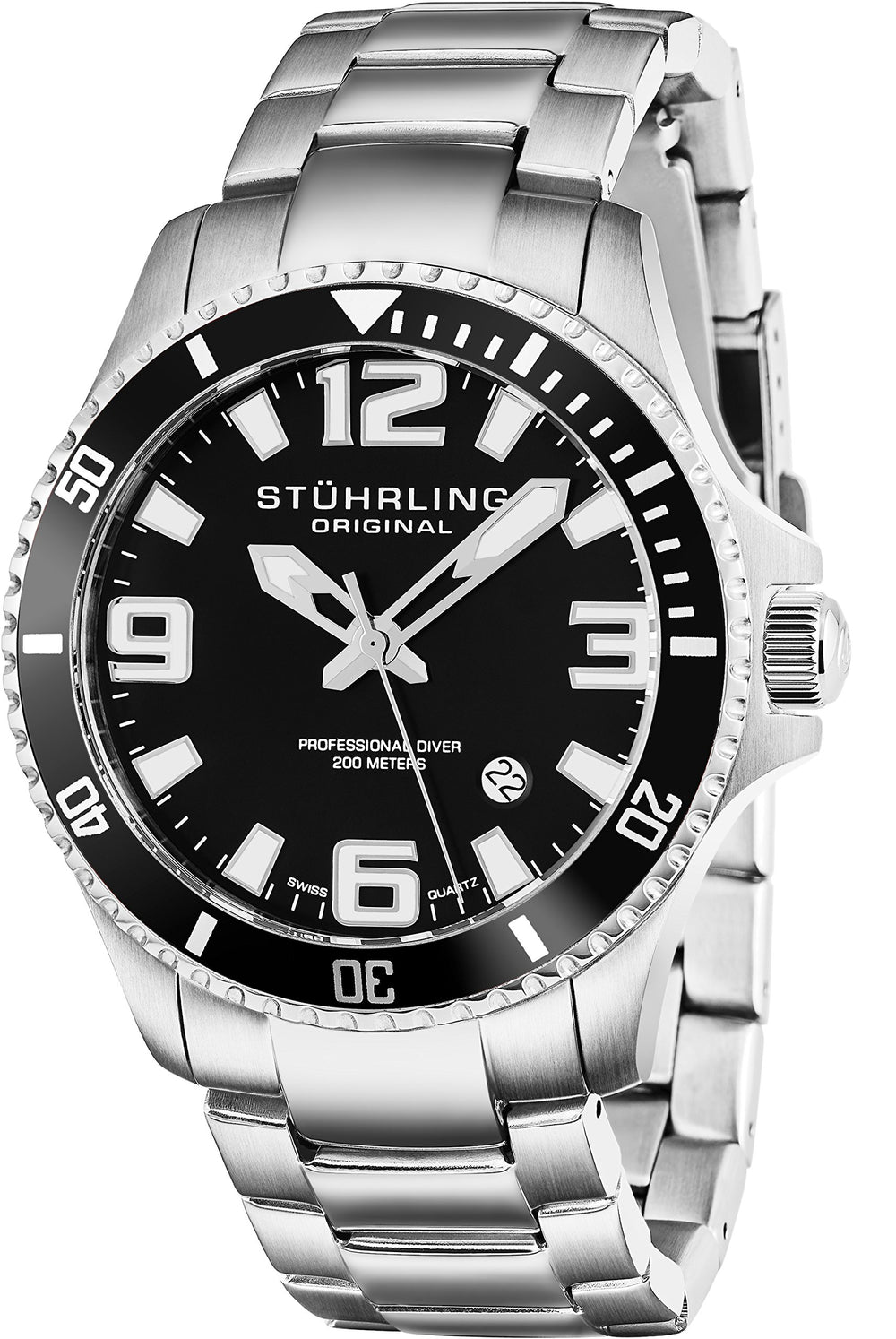 Men's Swiss Stainless Steel Quartz Sport Watch