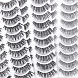 5 Styles Wispies Fake Lashes with Tweezers