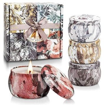 YINUO LIGHT Scented Candles Lavender, Gift Set - Shade & watches