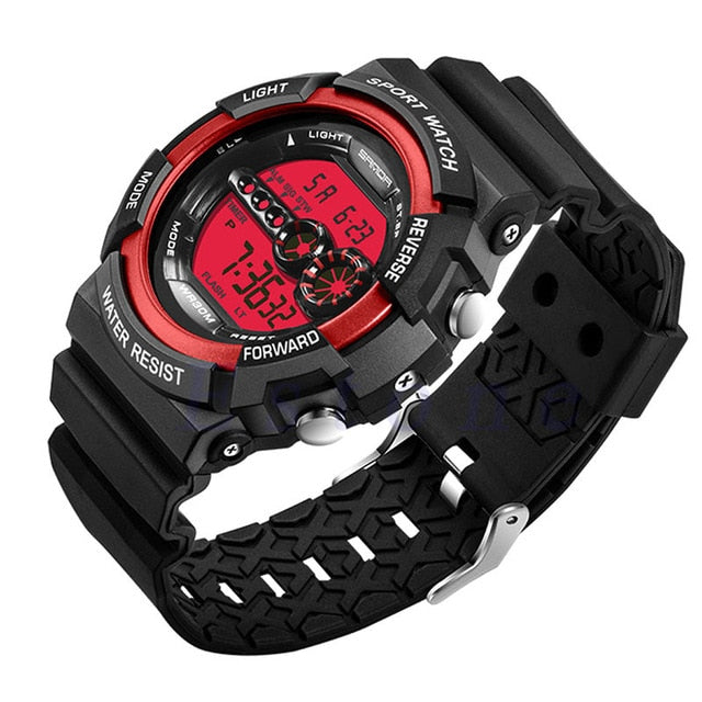 Men's Stainless Steel LED Waterproof Watch - Shade & watches