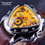 Men's Sport Racing Genuine Leather Strap Watches - Shade & watches