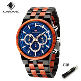 Men's Chronograph Sport Wooden Watches- Gift Box - Shade & watches
