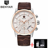 Top Brand Luxury Business Leather Men's Wrist Watches - Shade & watches