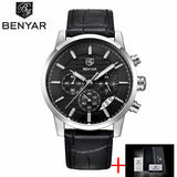 Top Brand Luxury Business Leather Men's Wrist Watches