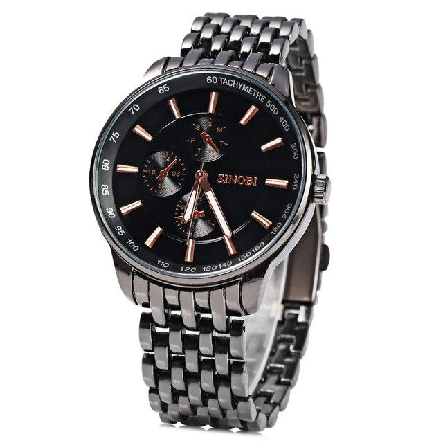Full Steel Quartz Stylish Watches for Men's - Shade & watches