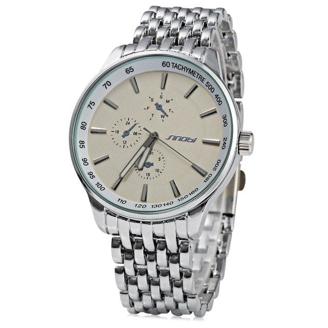 Full Steel Quartz Stylish Watches for Men's
