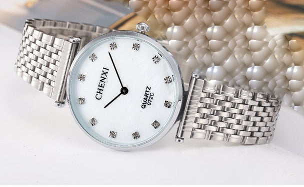 Lovers Stainless Steel Rhinestone watches for Men's