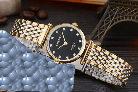 Lovers Stainless Steel Rhinestone watches for Men's - Shade & watches