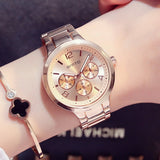 Stainless Steel Luxury Rose Gold watches for Women