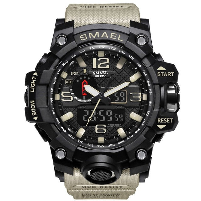 Men's Sports Watches Dual Display Analog LED - Shade & watches