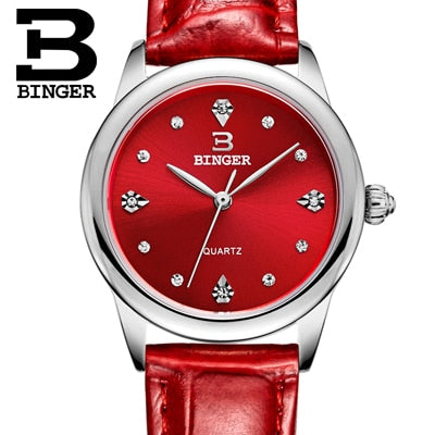 Genuine leather strap Waterproof Women Watches - Shade & watches