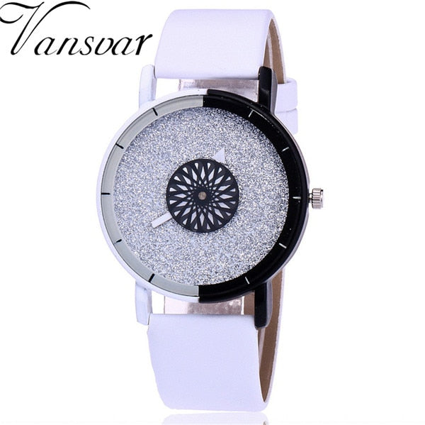 Stylish Casual Candy Leather Quartz Women Watches