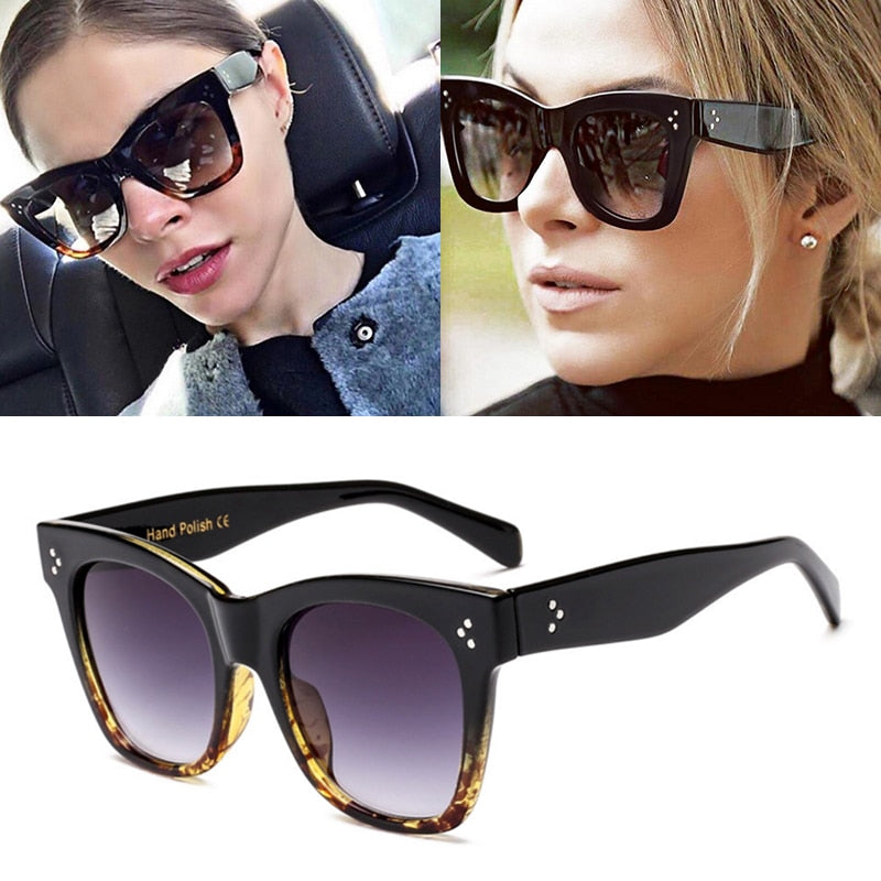 Women Cat Eye Sunglasses Vintage Brand Designer