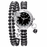 Luxury brand butterfly pearls bracelet Women Watches - Shade & watches