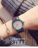 New Fashion Colorful Stainless Steel Women Watches - Shade & watches