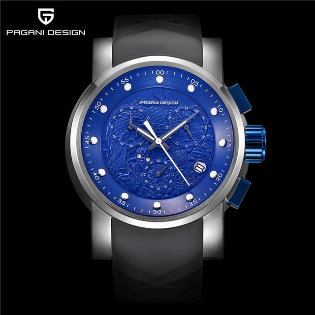 Luxury Chinese Dragon Calendar Men's Watches