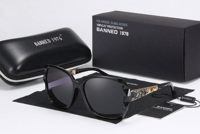 Luxury Rhinestone Polarized Sunglasses for Women - Shade & watches