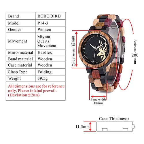 BOBO BIRD Wooden Strap Watches for Men's - Shade & watches