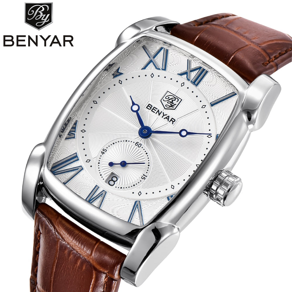 Top Luxury Brand Leather Strap Men's Watches