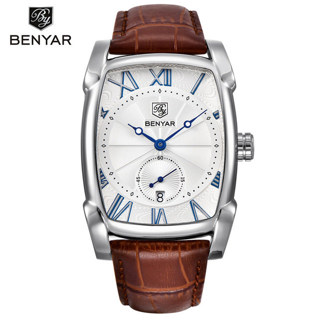 Top Luxury Brand Leather Strap Men's Watches - Shade & watches