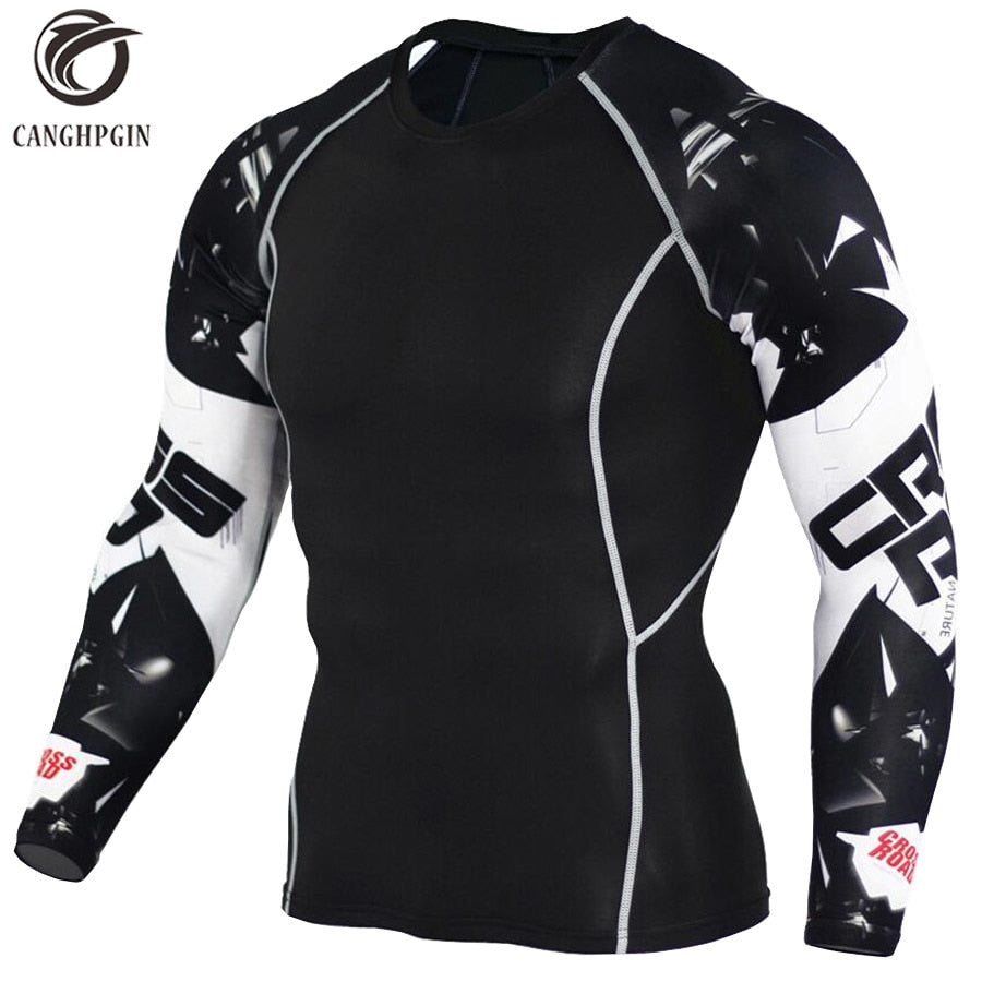 Tights Long sleeves Men's Fitness Running T-shirts