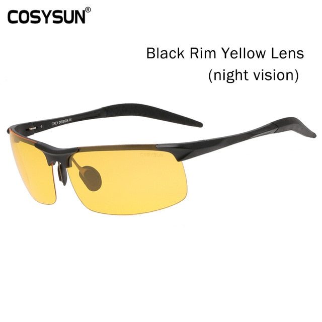 Day & Night Vision Polarized Sunglasses for Men's - Shade & watches