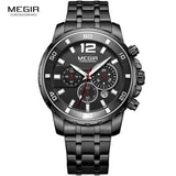 2018-Men's Gold Stainless Steel Quartz Watches