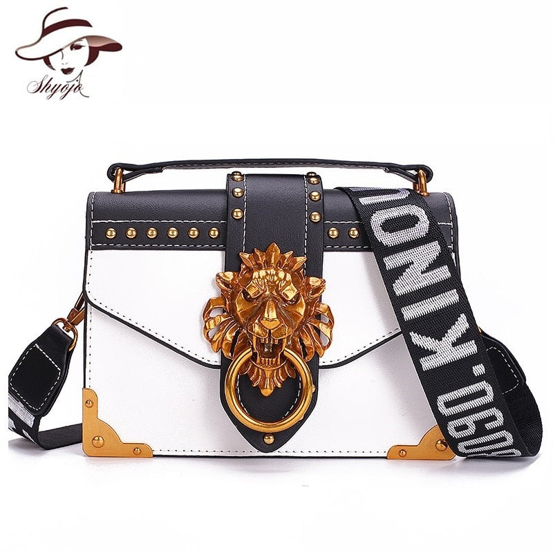 Fashion Lion Head Mini Small Square Women handbags