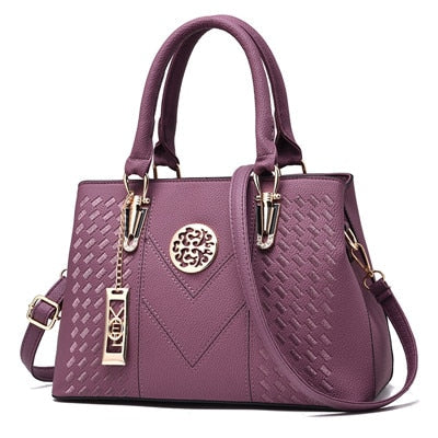 Embroidery Stylish leather Women Handbags - - Shade & watches