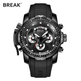 Fashion Rubber Band Sport Army Wristwatches for Men's - Shade & watches