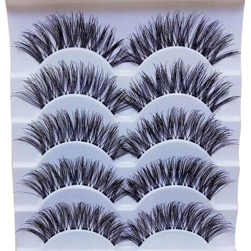 Handmade 5 Pairs Natural Long False Eyelash