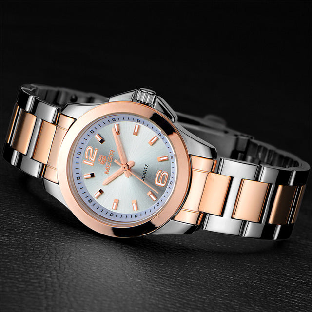 Women Watches Fashion Gold Stainless Steel - Shade & watches
