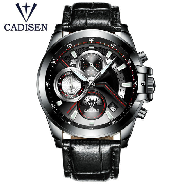 2019- Luxury Brand Leather Strap Business Men's Watches