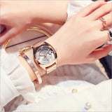 New Style Bracelet Auto Date Women Watches - Shade & watches