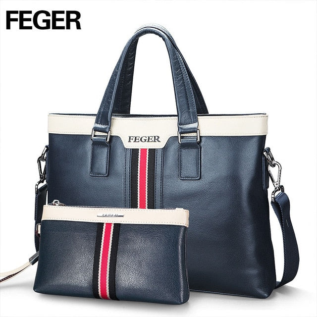 FEGER - Fashion Leather Men's Handbags for Business