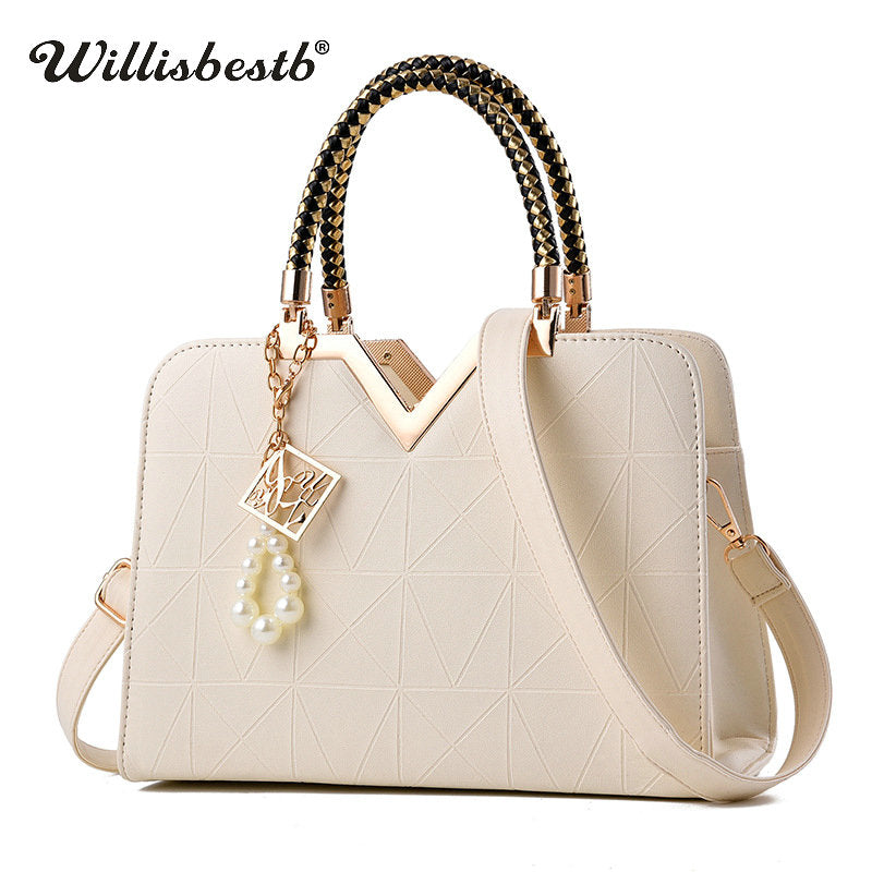 New Summer Phone Pocket Zipper Women Leather Handbags