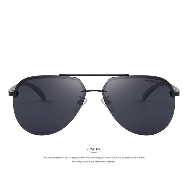 Black Stylish Polarized Sunglasses for Men's - Shade & watches