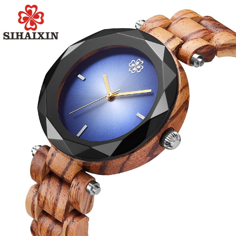 Bamboo Wood Quartz Luxury Women Watches - Shade & watches