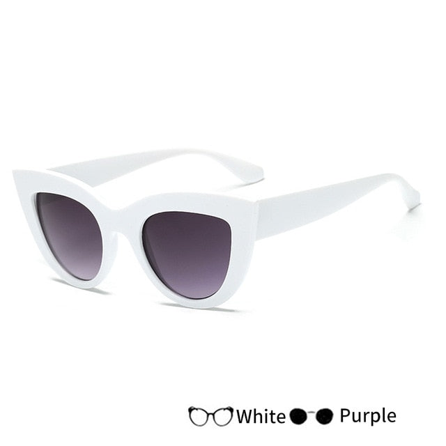 Fashion Cat Eye Vintage Sunglasses for Women - Shade & watches